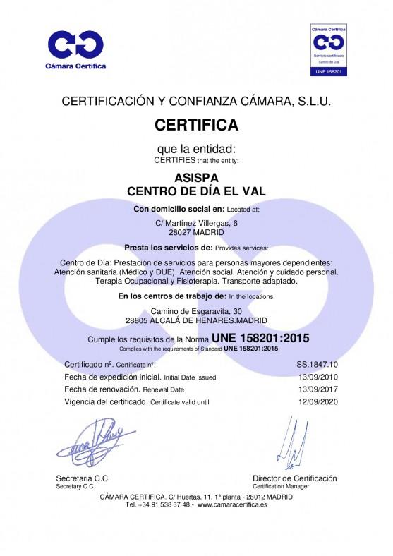 Certificado El Val