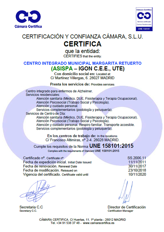 Certificado Margaria Retuerto