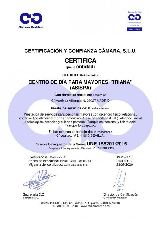 Certificado Triana
