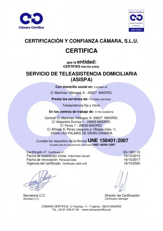 certificacion teleasistencia