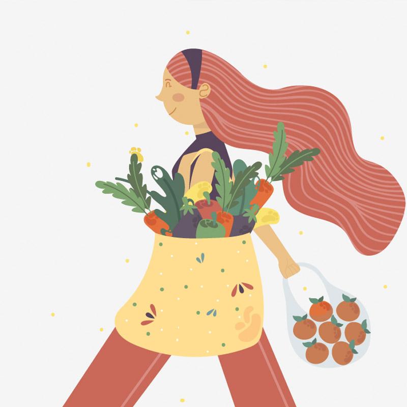 imagen de pon en marcha una alimentación sana