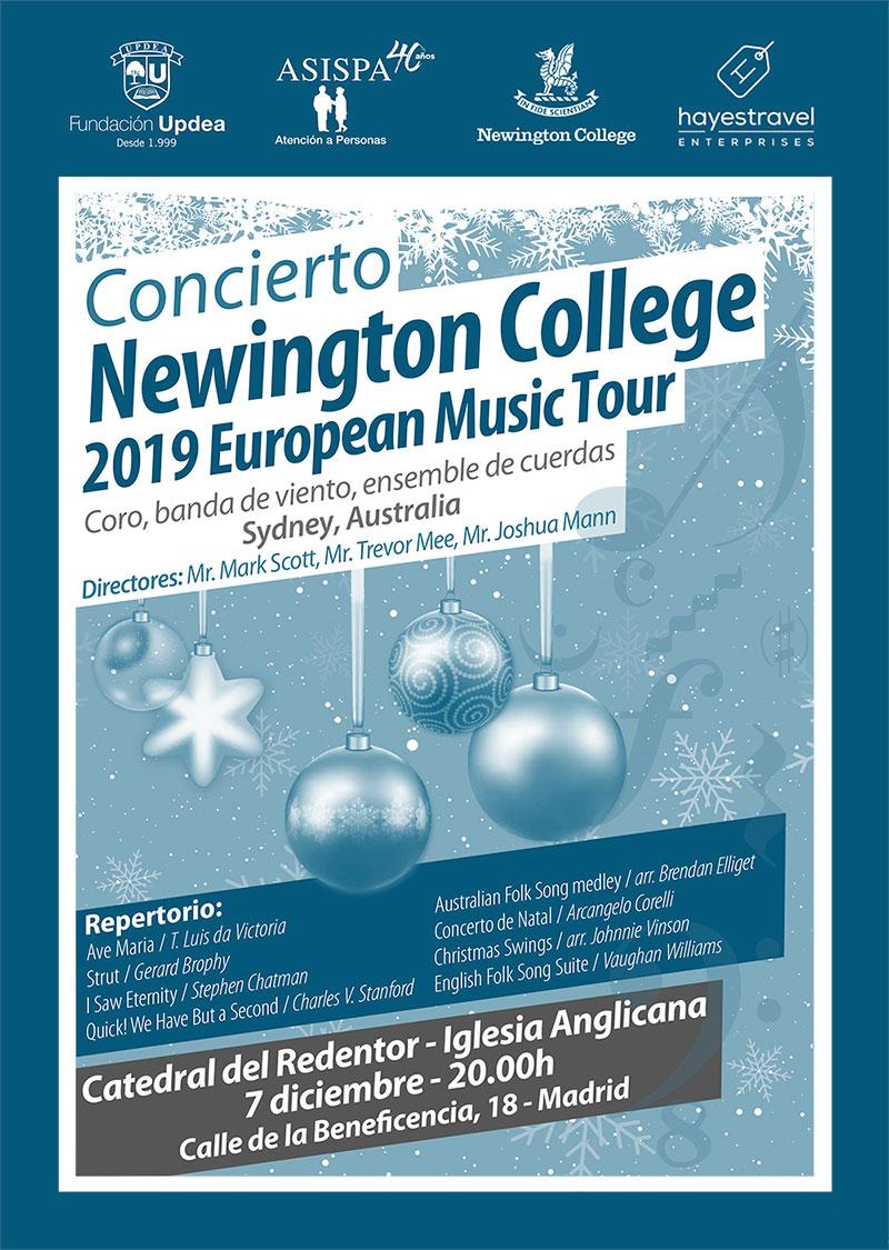 cartel concierto newingtong college
