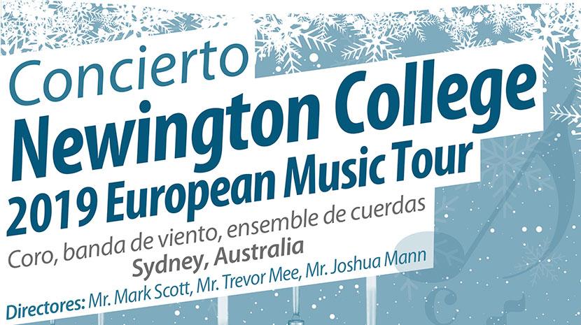 ASISPA te invita al Concierto Newington College 2019 European Music Tour