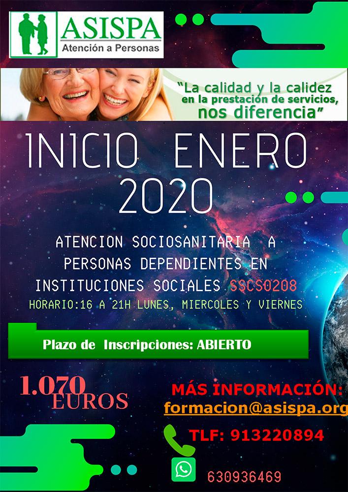 Curso: Atención Sociosanitaria a Personas Dependientes en Instituciones Sociales