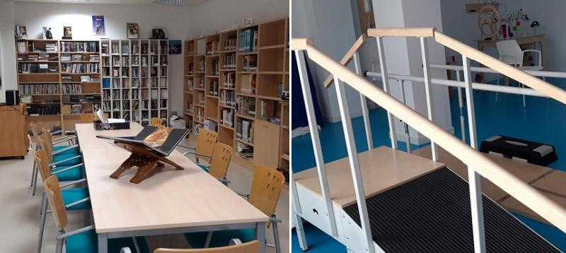 biblioteca gimnasio proyecto convivir
