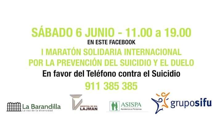 I Maratón solidario por la prevención del suicidio