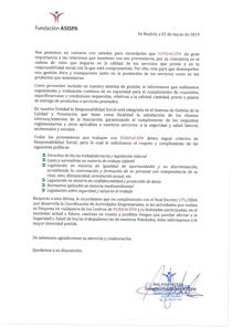 calidad proveedores Fundación ASISPA