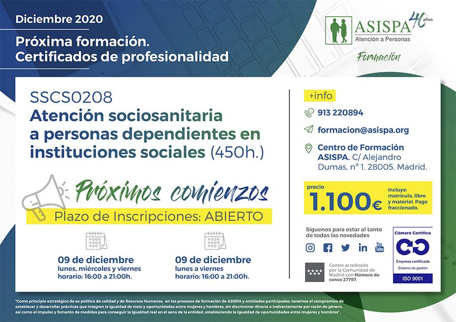 certificado SSC0208 diciembre 2020