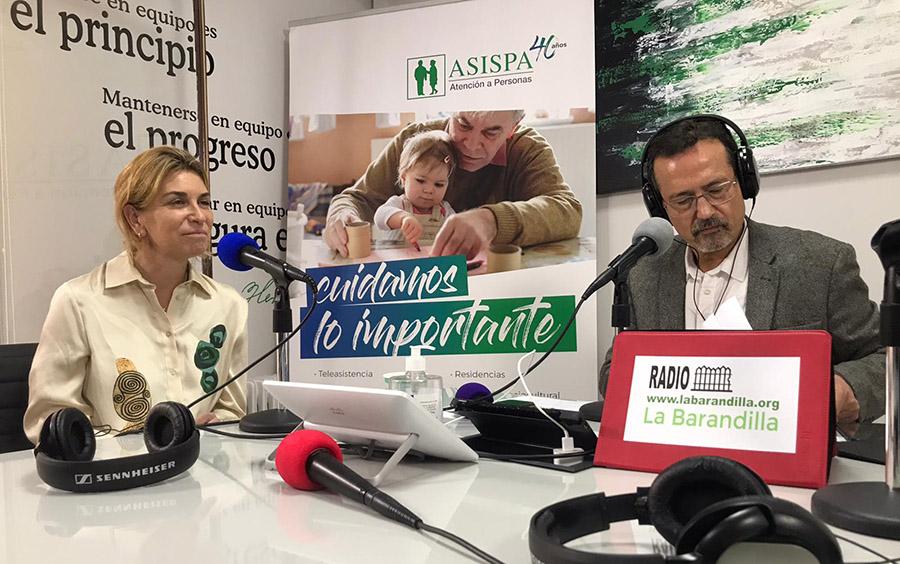 Elena Sampedro en la maratón de radio ASISPA