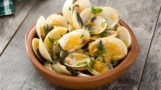 receta almejas fumet de pescado