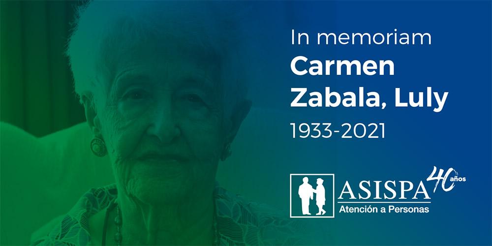 Carmen Zabala fallecimiento