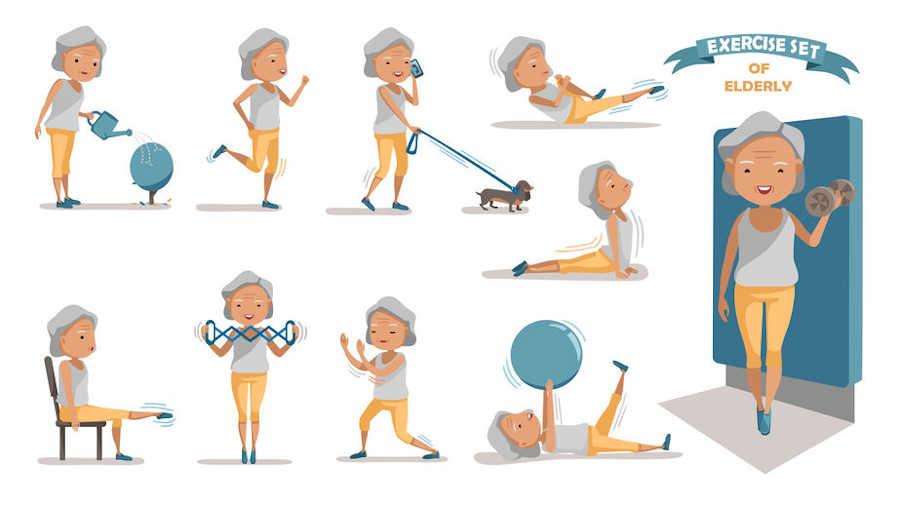 ejercicios de estiramientos y flexibilidad para mayores