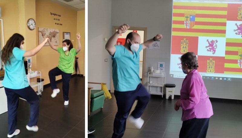 día de Aragón bailando la jota
