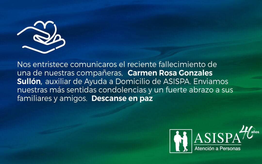 Fallecimiento Carmen Rosa Gonsales