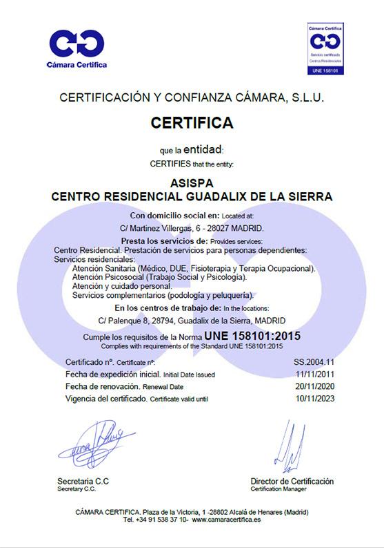 certificado residencia guadalix
