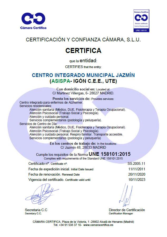 certificado residencia jazmin