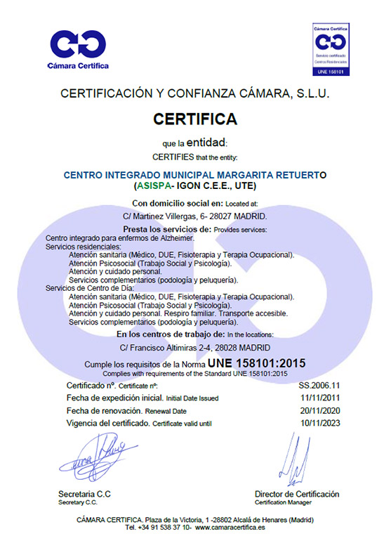 certificado residencia margarita retuerto