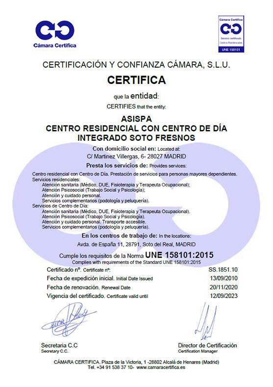 Certificado Soto Fresnos