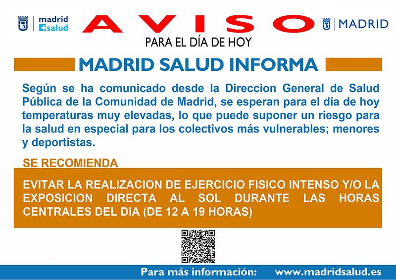 CARTEL OLA CALOR MADRID