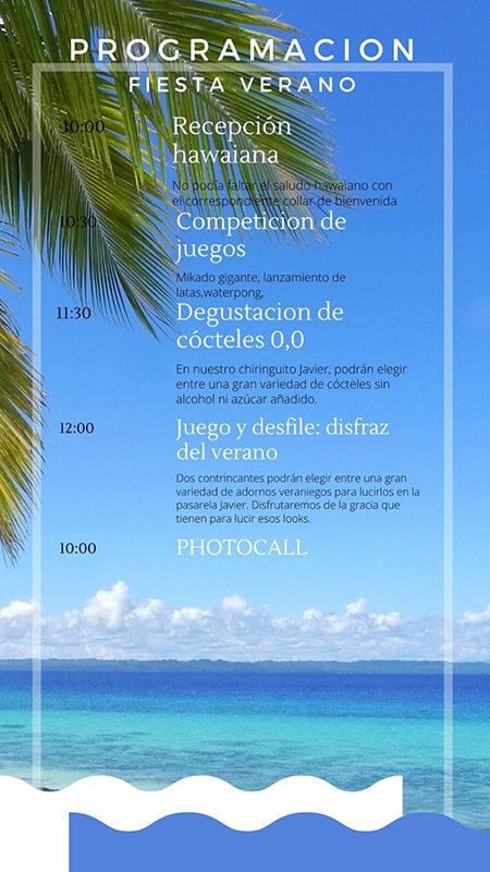 Programa Fiesta de Verano en el Centro de Día Javier