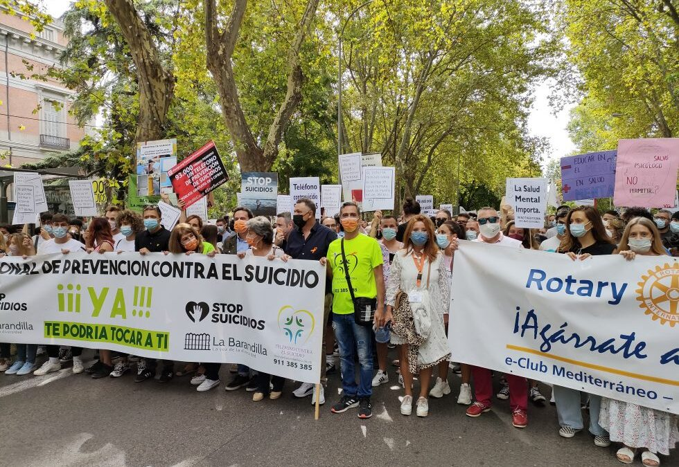 Manifestación contra el suicidio